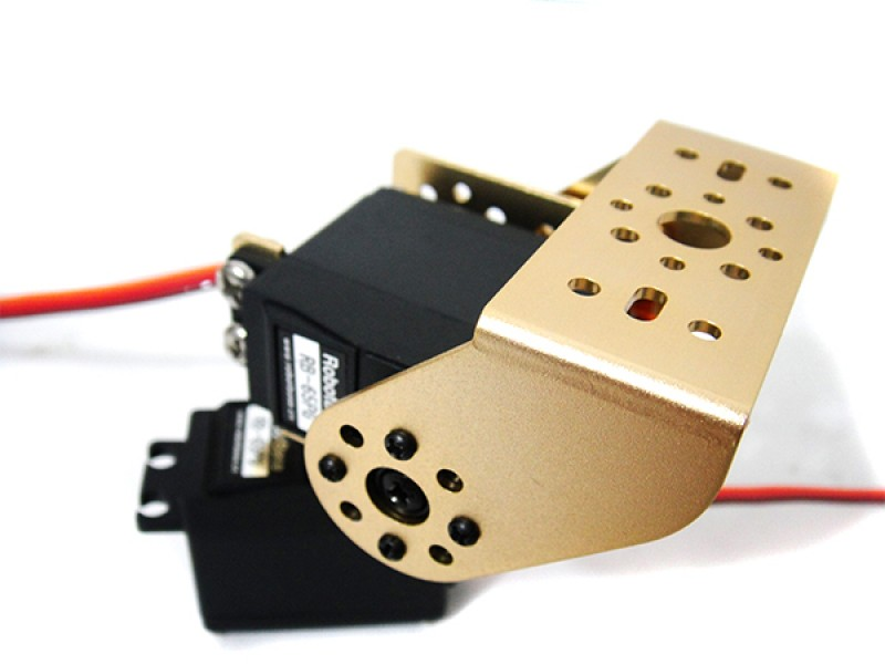 RB-65PG Pan and Tilt Kit with Aluminum Offset Servo Bracket - Gold